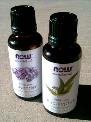 Lavender and Eucalyptus essential oils