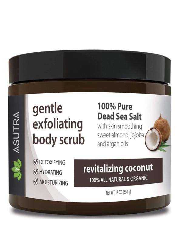 Asutra Coconut Organic Exfoliating Body Scrub - The Bathtub Diva