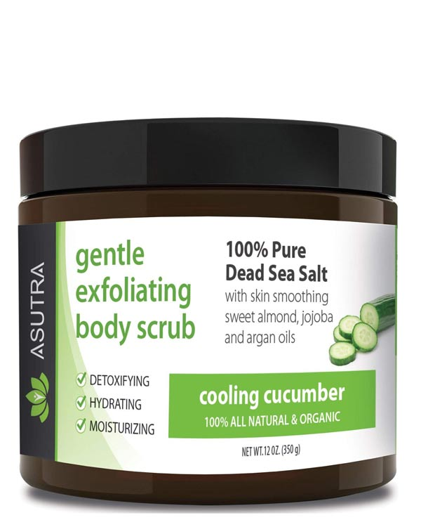 Asutra Cucumber Organic Exfoliating Body Scrub - The Bathtub Diva