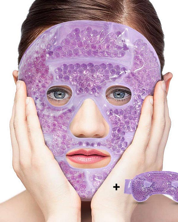 Hot/Cold Gel Bead Facial Mask - The Bathtub Diva