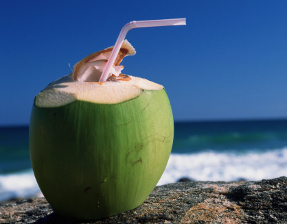 Coconut juice in natural container