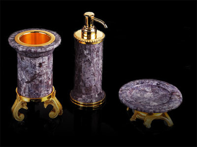 amethyst bath tub accessories