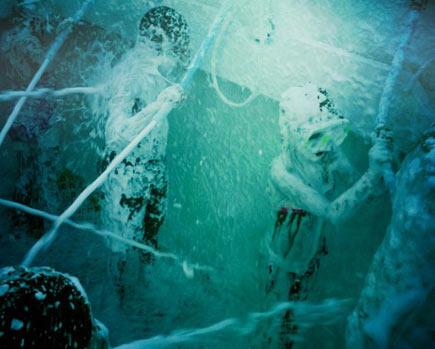 Interblastive Foam Shower
