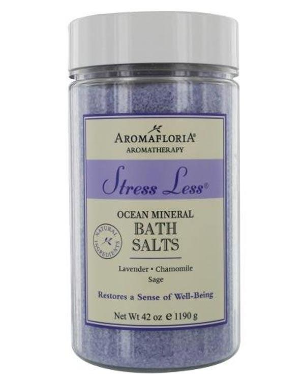 Aromafloria Stress Less Ocean Mineral Salts, Lavender/Chamomile/Sage - The Bathtub Diva