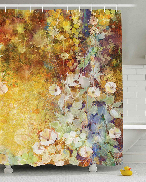 Floral Shower Curtain - The Bathtub Diva