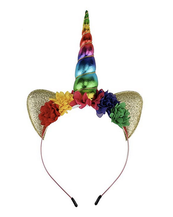 Unicorn Ears Flower Headband - The Bathtub Diva