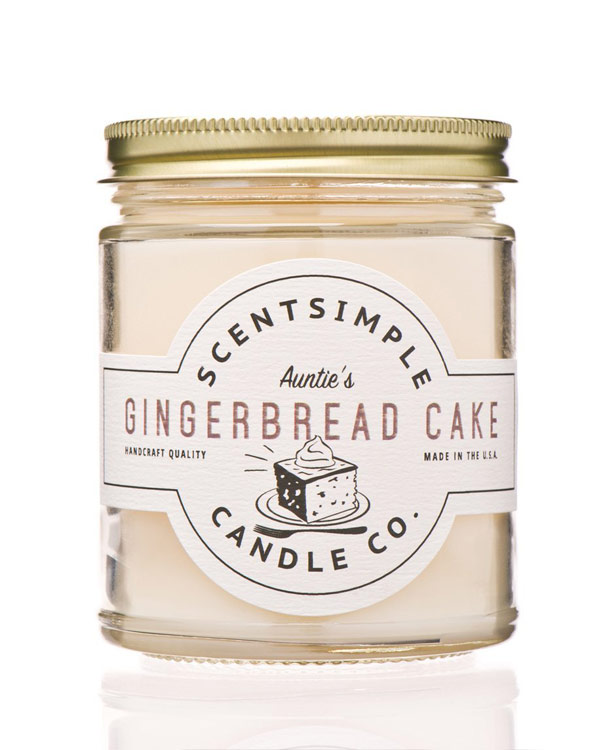 Gingerbread Candle - The Bathtub Diva